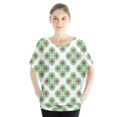 Floral Collage Pattern Blouse by dflcprintsclothing