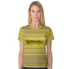 Pattern Women s V Neck Sport Mesh Tee