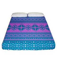 Pattern Fitted Sheet (queen Size)
