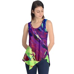 Abstract Painting ,blue,yellow,red,green Sleeveless Tunic by Costasonlineshop