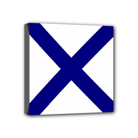 Saint Andrew s Cross Mini Canvas 4  X 4  by abbeyz71