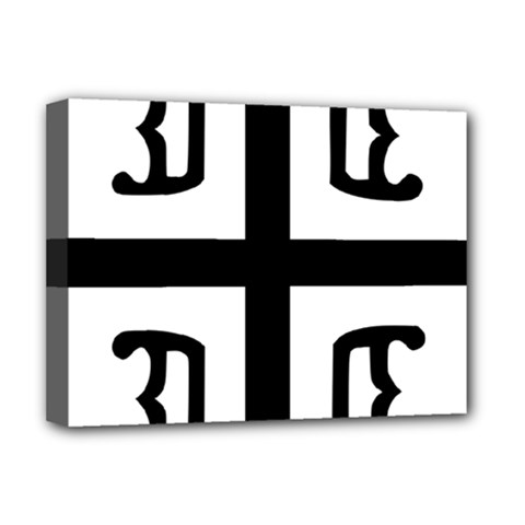 Serbian Cross Deluxe Canvas 16  X 12   by abbeyz71