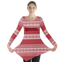 Pattern Long Sleeve Tunic  by Valentinaart