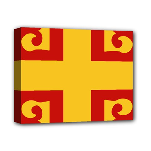 Byzantine Imperial Flag, 14th Century Deluxe Canvas 14  X 11  by abbeyz71