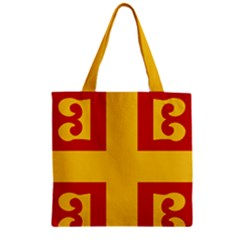 Byzantine Imperial Flag, 14th Century Zipper Grocery Tote Bag by abbeyz71