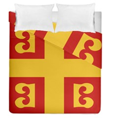 Byzantine Imperial Flag, 14th Century Duvet Cover Double Side (queen Size) by abbeyz71