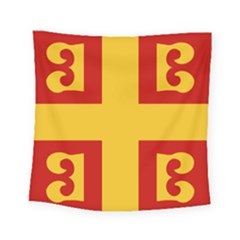 Byzantine Imperial Flag, 14th Century Square Tapestry (small) by abbeyz71