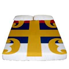 Flag Of The Serbian Orthodox Church Fitted Sheet (queen Size)