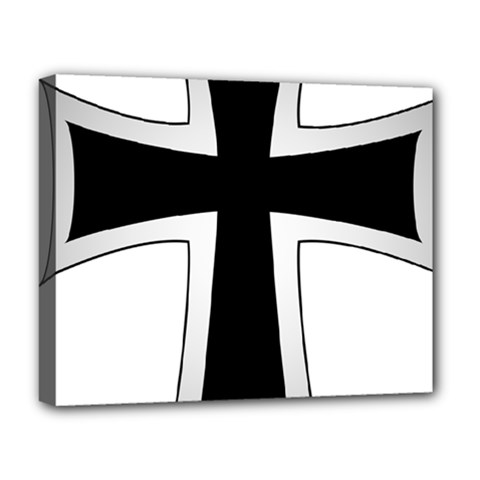 Cross Of The Teutonic Order Deluxe Canvas 20  X 16   by abbeyz71