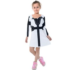 Caucasian Albanian Cross Kids  Long Sleeve Velvet Dress by abbeyz71