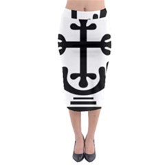 Anuradhapura Cross Midi Pencil Skirt