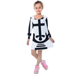 Anuradhapura Cross Kids  Long Sleeve Velvet Dress