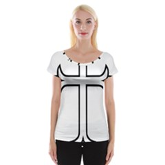 Western Syriac Cross Women s Cap Sleeve Top