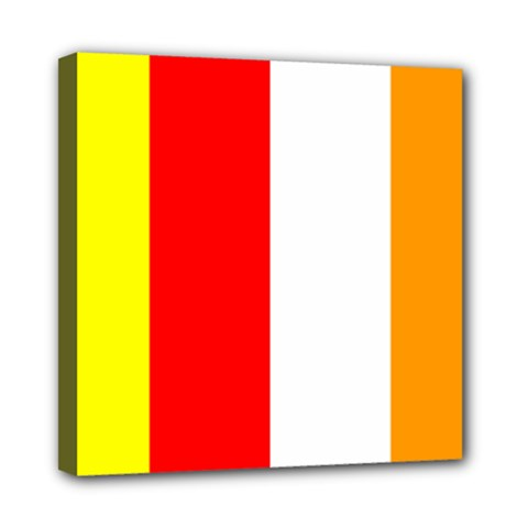International Flag Of Buddhism Mini Canvas 8  X 8  by abbeyz71