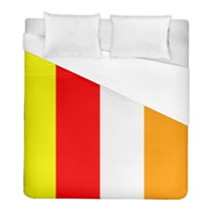 International Flag Of Buddhism Duvet Cover (full/ Double Size) by abbeyz71