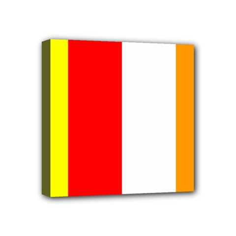 International Flag Of Buddhism Mini Canvas 4  X 4  by abbeyz71