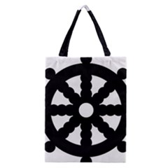 Dharmacakra Classic Tote Bag by abbeyz71
