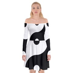 Yin & Yang Off Shoulder Skater Dress by abbeyz71