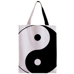 Yin & Yang Zipper Classic Tote Bag by abbeyz71