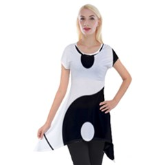 Yin & Yang Short Sleeve Side Drop Tunic by abbeyz71