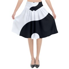Yin & Yang Flared Midi Skirt by abbeyz71