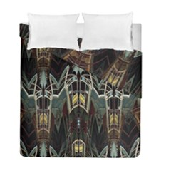 Urban Industrial Rust Grunge Duvet Cover Double Side (Full/ Double Size)