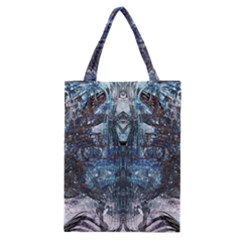Angel Wings Blue Grunge Texture Classic Tote Bag by CrypticFragmentsDesign