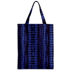 Wrinkly Batik Pattern   Blue Black Classic Tote Bag by EDDArt