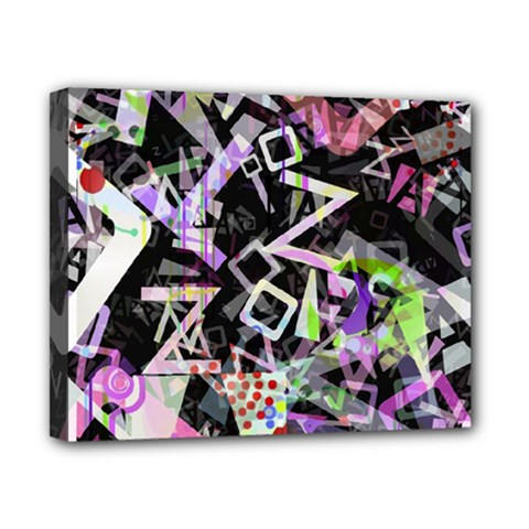 Chaos With Letters Black Multicolored Canvas 10  X 8  by EDDArt