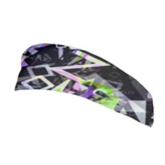 Chaos With Letters Black Multicolored Stretchable Headband