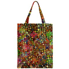 Multicolored Retro Spots Polka Dots Pattern Zipper Classic Tote Bag by EDDArt