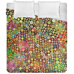 Multicolored Retro Spots Polka Dots Pattern Duvet Cover Double Side (california King Size) by EDDArt
