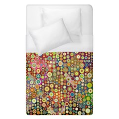 Multicolored Retro Spots Polka Dots Pattern Duvet Cover (single Size) by EDDArt