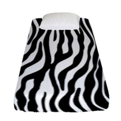 Zebra Stripes Pattern Traditional Colors Black White Fitted Sheet (single Size) by EDDArt