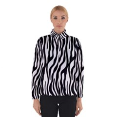 Zebra Stripes Pattern Traditional Colors Black White Winterwear by EDDArt