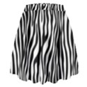 Zebra Stripes Pattern Traditional Colors Black White High Waist Skirt View2