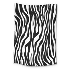 Zebra Stripes Pattern Traditional Colors Black White Large Tapestry by EDDArt