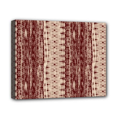 Wrinkly Batik Pattern Brown Beige Canvas 10  X 8  by EDDArt