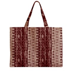 Wrinkly Batik Pattern Brown Beige Medium Tote Bag by EDDArt