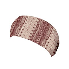 Wrinkly Batik Pattern Brown Beige Yoga Headband by EDDArt