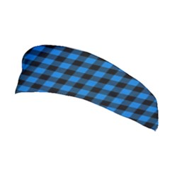 Lumberjack Fabric Pattern Blue Black Stretchable Headband by EDDArt