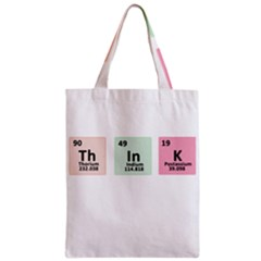 Think   Chemistry Zipper Classic Tote Bag by Valentinaart