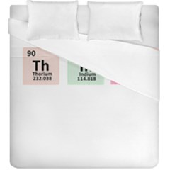 Think   Chemistry Duvet Cover Double Side (king Size) by Valentinaart