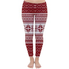 Pattern Classic Winter Leggings by Valentinaart
