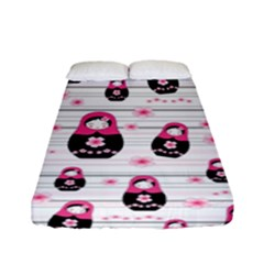 Matryoshka Doll Pattern Fitted Sheet (full/ Double Size) by Valentinaart
