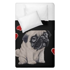 Love Pugs Duvet Cover Double Side (single Size) by Valentinaart