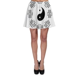 I Ching  Skater Skirt by Valentinaart