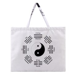 I Ching  Zipper Large Tote Bag by Valentinaart