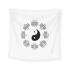 I Ching  Square Tapestry (small) by Valentinaart