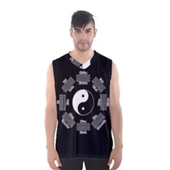 I Ching  Men s Basketball Tank Top by Valentinaart